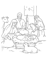 coloring pages nativity lds coloring
