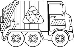 trash truck coloring pages funycoloring