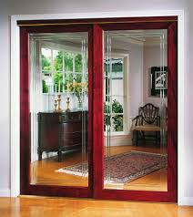 Mirrored Sliding Doors Closet Model 440v Framed Sliding Door Erias Home Designs