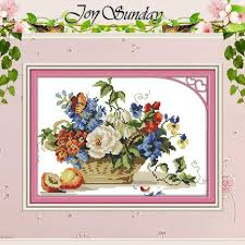 fruit and flower basket fruit and flower basket patterns counted cross stitch 11 14ct cross