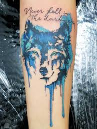 watercolor wolf head tattoo on arm photos pictures and sketches