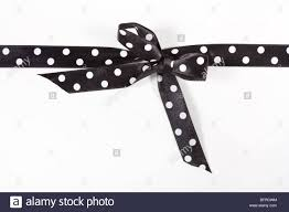 black and white polka dot ribbon black and white polka dot ribbon in a bow white card used