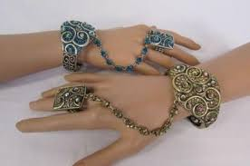 bracelet ring silver images Hand chain slave bracelet ring alwaystyle4you jpg