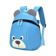 kindergarten backpack pattern fashion children backpack anti lost canvas bag cartoon animal bear