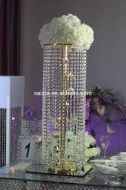 latest wedding decoration silver metal stand wedding center pieces