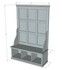 Build Storage Bench Plans by Ana White Build A Fancy Hall Tree Free And Easy Diy Project
