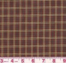 plaid home decor fabric red gold woven plaid home decor fabric osprey rugby bty ebay