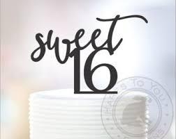 16 cake topper sweet 16 cake topper etsy studio