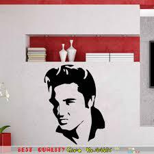 famous music world star elvis presley wall decals murals art home
