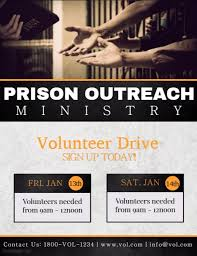 volunteer brochure template prison ministry template postermywall