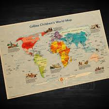Diy World Map by Educational Wall Maps Promotion Shop For Promotional Educational