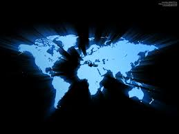 Image Of World Map by Blue Glowing World Map Psdgraphics
