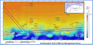 Map Of The Gulf Of Mexico by Flower Garden Banks National Marine Sanctuary And Other