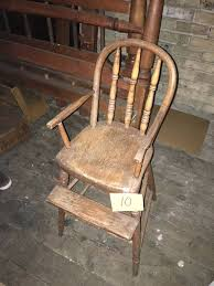 Antique Wooden High Chair Vintage And Antique Furniture And Furnishings Waterford Crystal
