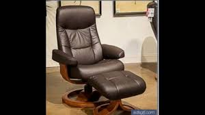 Small Leather Armchair Small Leather Chair With Ottoman Youtube