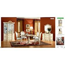 amazon com esf rossella 5 pieces traditional ivory finish