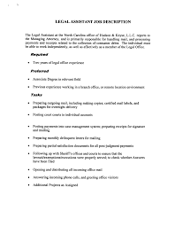 Legal Assistant Job Description Resume by Cover Letter For Legal Jobs
