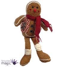 gisela graham christmas gingerbread man shelf sitter ornament