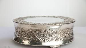 silver wedding cake stand dazzling inspiration 16 inch cake stand and wedding plateau