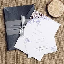 Wedding Invitation Pocket Envelopes Purple And Brown Ribbon Pocket Wedding Invitations Ewpi095 As Low