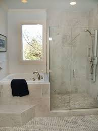 Small Bathroom Designs With Shower And Tub Interesting Way To Separate Shower And Bath In A Small Bathroom