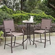 Patio Bar Height Table And Chairs by Stunning Outdoor Bistro Table Set Bar Height Furniture Counter
