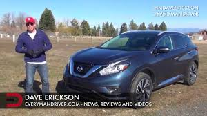 nissan murano us news detailed review 2015 nissan murano awd on everyman driver youtube