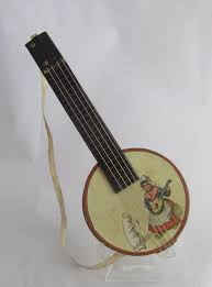 antique germany dresden container banjo