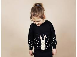 mini rodini bunny sweatshirt orange mayonnaise