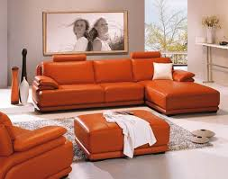 Leathercraft Sofas Living Room Good Burnt Orange Leather Sofa 14 About Remodel