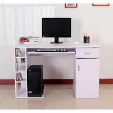 bureau ordinateur blanc meuble pour ordinateur bureau moderne blanc lepolyglotte