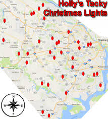 Alexandria Va Map Hollys Tacky Christmas Lights In Fairfax County Virginia
