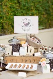 a coffee and tea bar for autumn and winter weddings