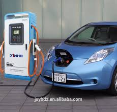 nissan leaf quick charger dc level 3 quick ev charger with iec and chademo compliant for car