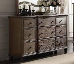 weathered oak vanity acme baudouin drawer dresser in weathered oak 26115