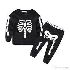 Boys Skeleton Halloween Costume 2017 Halloween Costume Children Luminous Long Sleeve