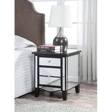 Mirrored Night Stands Appealing Bedroom Home Design Inspiration Show Fabulous Silver