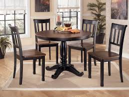 Round Dining Room Tables For 4 by Round Dining Room Sets For 4 With Black And Brown Finish Home