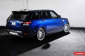 blue range rover vogue vossen wheels land rover range rover vossen cvt