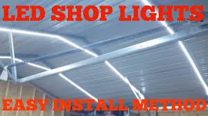 utilitech led strip light 12 ft garage led shop lights low voltage easy install youtube
