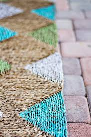 Make Your Own Outdoor Rug Painted Outdoor Rug Paint Outdoor Rugs And