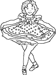 shirley temple coloring pages