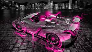 pink and black cars lamborghini veneno roadster fire city car 2013 el tony