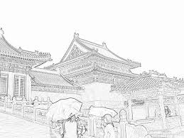 stock pictures chinese style architecture sketches of the