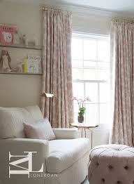 Blush Pink Curtains Pink Flower Nursery Curtains Transitional Nursery