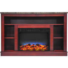 hanover oxford 47 in electric fireplace with a multi color led