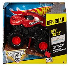 scooby doo monster jam truck toy amazon com wheels monster jam rev tredz crushstation truck