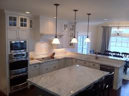 marble kitchen island beautiful carrera marble countertops feature grey granite kitchen