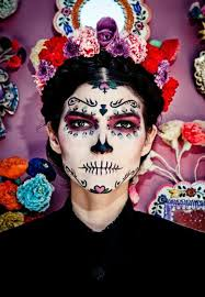 Skeleton Halloween Makeup by Frida Kahlo Day Of The Dead Make Up Dia De Los Muertos