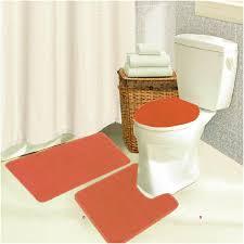 burnt orange bathroom rug set orange bath rugs sets bath and